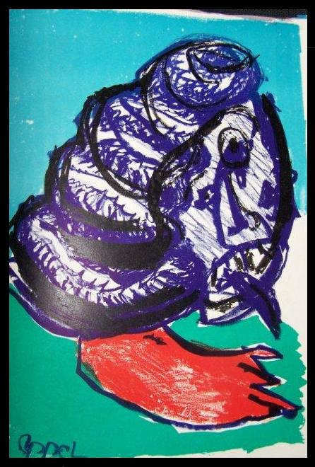 Karel Appel one cent life litho